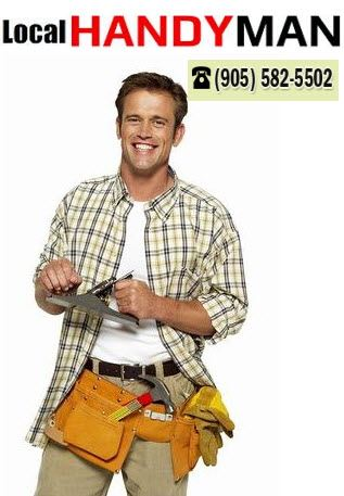 handyman wearing tradesman tool belt