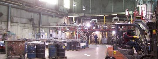 inside of a chemical factory in Hamilton Ontario